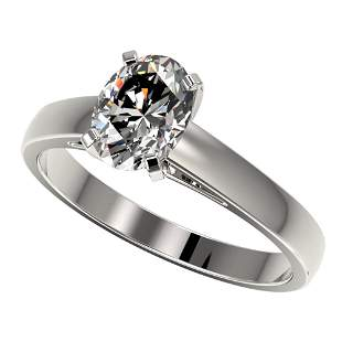 1.25 ctw Certified VS/SI Quality Oval Diamond Ring 10k