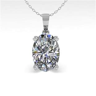 0.50 ctw VS/SI Oval Diamond Designer Necklace 14k White