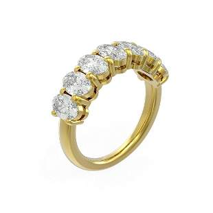 3.64 ctw Oval Diamond Ring 18K Yellow Gold - REF-580F2M