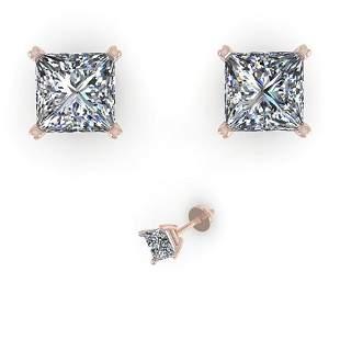 1.03 ctw Princess Cut VS/SI Diamond Designer Earrings