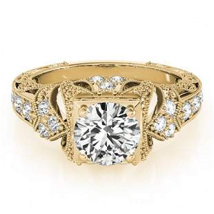 1.25 ctw Certified VS/SI Diamond Antique Ring 18k