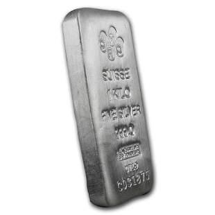 One piece 1 kilo 0.999 Fine Silver Bar PAMP Suisse -
