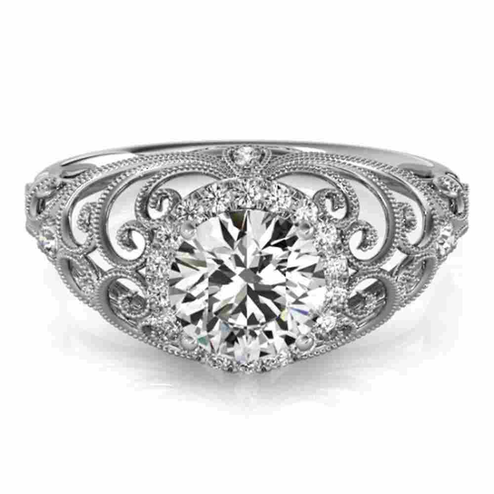 1.22 ctw Certified VS/SI Diamond Halo Ring 18k White