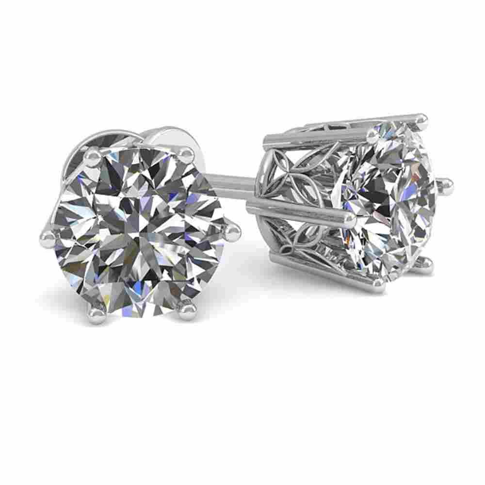 1.05 ctw Certified VS/SI Diamond Stud Earrings 18k