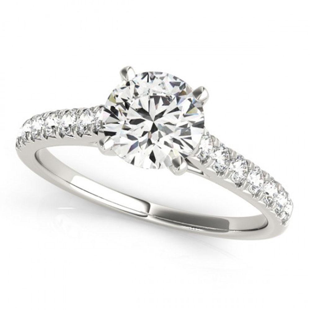 1 ctw Certified VS/SI Diamond Ring 18k White Gold -