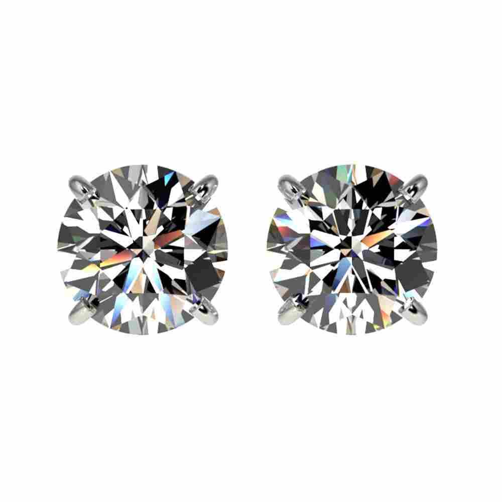 1.55 ctw Certified Quality Diamond Stud Earrings 10k
