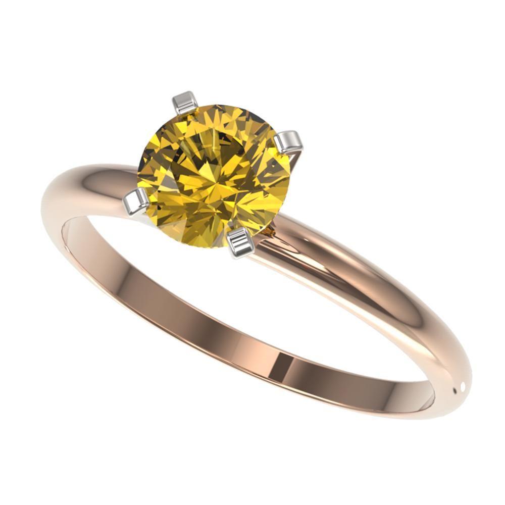 1 ctw Certified Intense Yellow Diamond Engagment Ring
