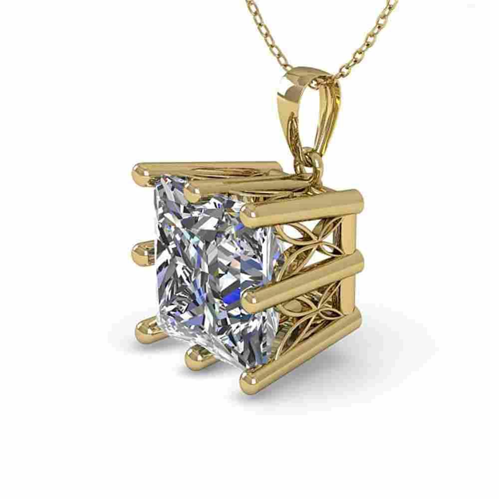 1 ctw Certified VS/SI Princess Diamond Necklace 18k