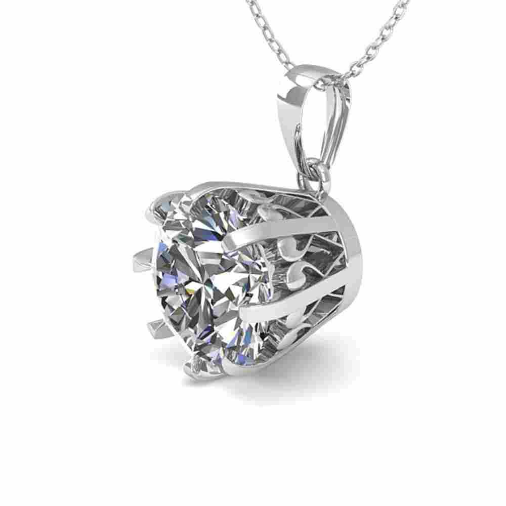 1 ctw VS/SI Diamond Solitaire Necklace Vintage 18k