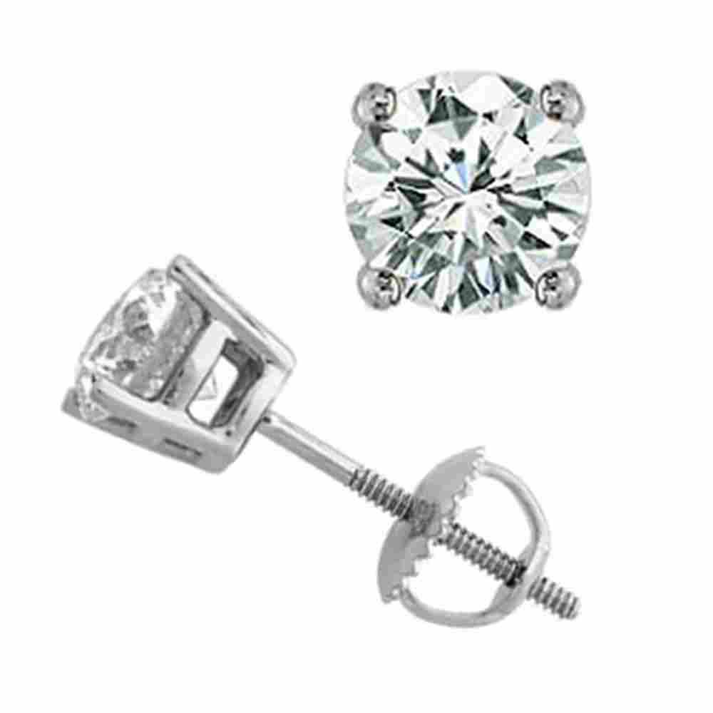 1.25 ctw Certified VS/SI Diamond Stud Earrings 14k