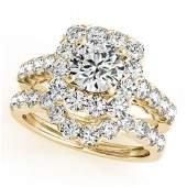 3.23 ctw Certified VS/SI Diamond 2pc Wedding Set Halo