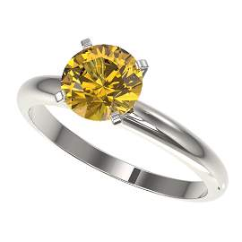 1.50 ctw Certified Intense Yellow Diamond Solitaire