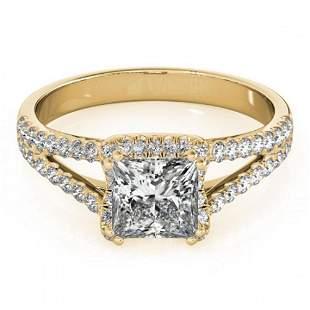 2.05 ctw Certified VS/SI Princess Diamond Halo Ring 18k