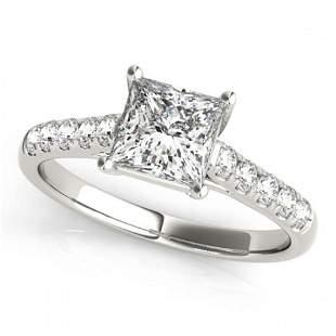 1.3 ctw Certified VS/SI Princess Diamond Ring 18k White