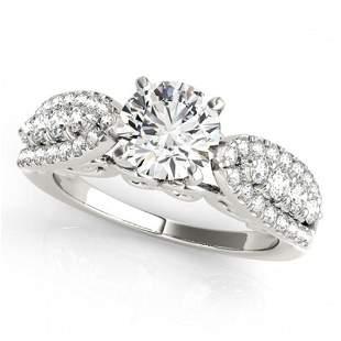 1.7 ctw Certified VS/SI Diamond Ring 18k White Gold -