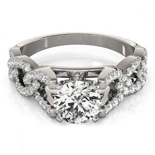 1.25 ctw Certified VS/SI Diamond Ring 18k White Gold -