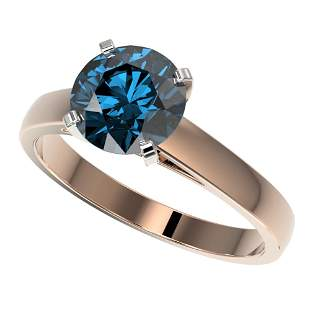 2.04 ctw Certified Intense Blue Diamond Engagment Ring