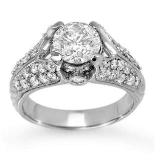 2.20 ctw Certified VS/SI Diamond Ring 18k White Gold -