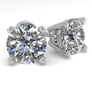2.01 ctw VS/SI Diamond Stud Designer Earrings 18k White