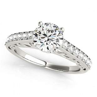 1.65 ctw Certified VS/SI Diamond Ring 18k White Gold -