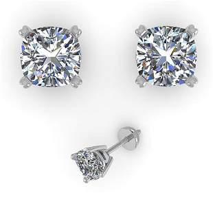 1.02 ctw Cushion VS/SI Diamond Stud Designer Earrings