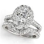 2.22 ctw Certified VS/SI Diamond 2pc Wedding Set Halo