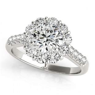 2 ctw Certified VS/SI Diamond Halo Ring 18k White Gold