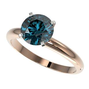 2 ctw Certified Intense Blue Diamond Engagment Ring 10k