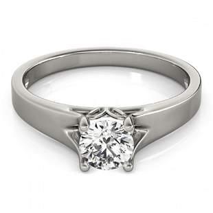 0.75 ctw Certified VS/SI Diamond Ring 18k White Gold -