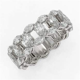 6.89 ctw Oval & Marquise Diamond Eternity Band 18K