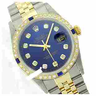 Rolex Men's Two Tone 14K Gold/SS, QuickSet, Diam Dial &