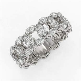 6.89 ctw Pear & Marquise Diamond Eternity Band 18K