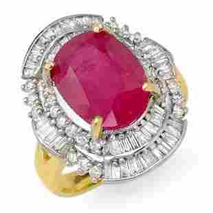 5.75 ctw Ruby & Diamond Ring 14k Yellow Gold -