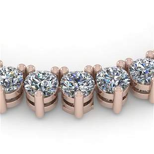 33 ctw 3 Prong Diamond Riviera Necklace 18K Rose Gold -