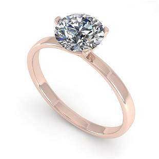1.0 ctw Certified VS/SI Diamond Engagment Ring Martini