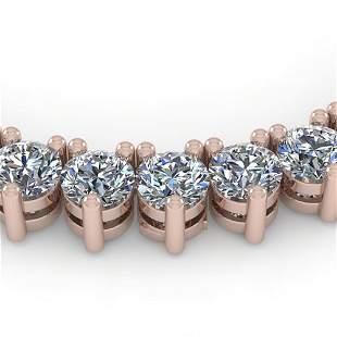 65 ctw 3 Prong Diamond Riviera Necklace 18K Rose Gold -