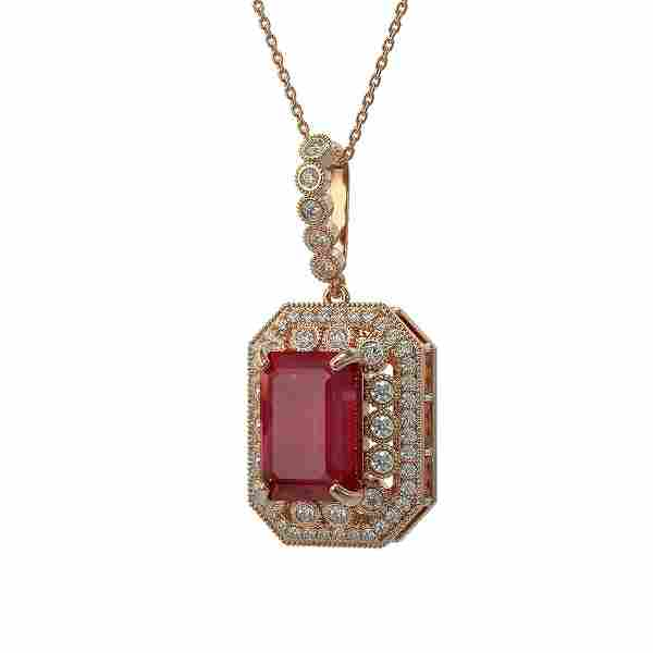 1.99 ctw Certified Ruby & Diamond Victorian Necklace