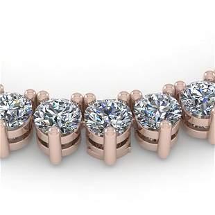 38 ctw 3 Prong Diamond Riviera Necklace 18K Rose Gold -