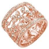 1.30 ctw Certified VS/SI Diamond Ring 14k Rose Gold -