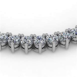 10 ctw 3 Prong Diamond Riviera Necklace 14K White Gold