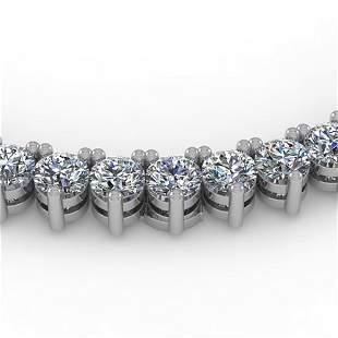 20 ctw 3 Prong VS/SI Diamond Riviera Necklace 14K White