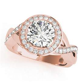 1.75 ctw Certified VS/SI Diamond Halo Ring 18k Rose