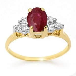 1.35 ctw Ruby & Diamond Ring 14k Yellow Gold -