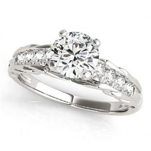 0.95 ctw Certified VS/SI Diamond Ring 18k White Gold -