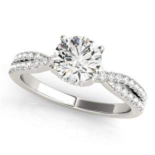 0.8 ctw Certified VS/SI Diamond Ring 18k White Gold -