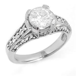 2.06 ctw Certified VS/SI Diamond Ring 14k White Gold -