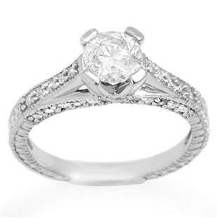 1.50 ctw Certified VS/SI Diamond Ring 14k White Gold -