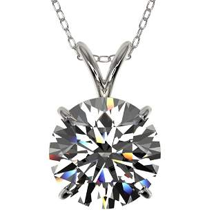 2.53 ctw Certified Quality Diamond Necklace 10k White