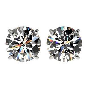 2.59 ctw Certified Quality Diamond Stud Earrings 10k