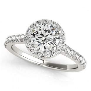 1.7 ctw Certified VS/SI Diamond Halo Ring 18k White